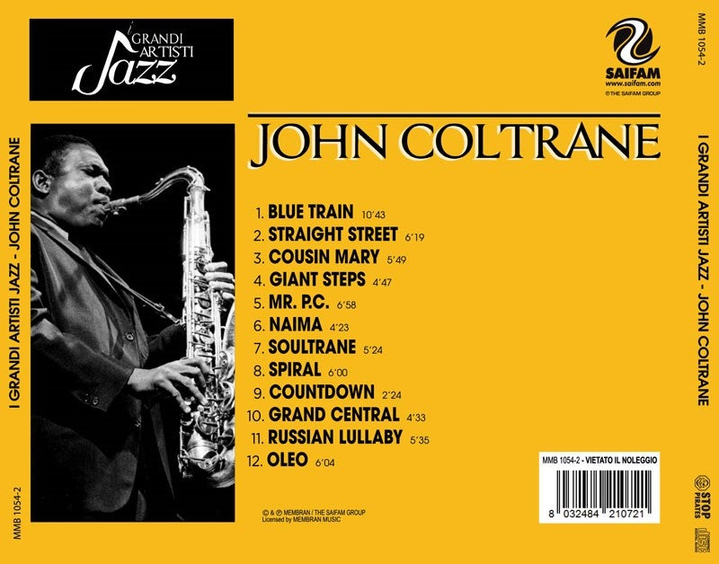 MMB1054-2 // I GRANDI ARTISTI JAZZ- JOHN COLTRANE (CD COMPILATION)