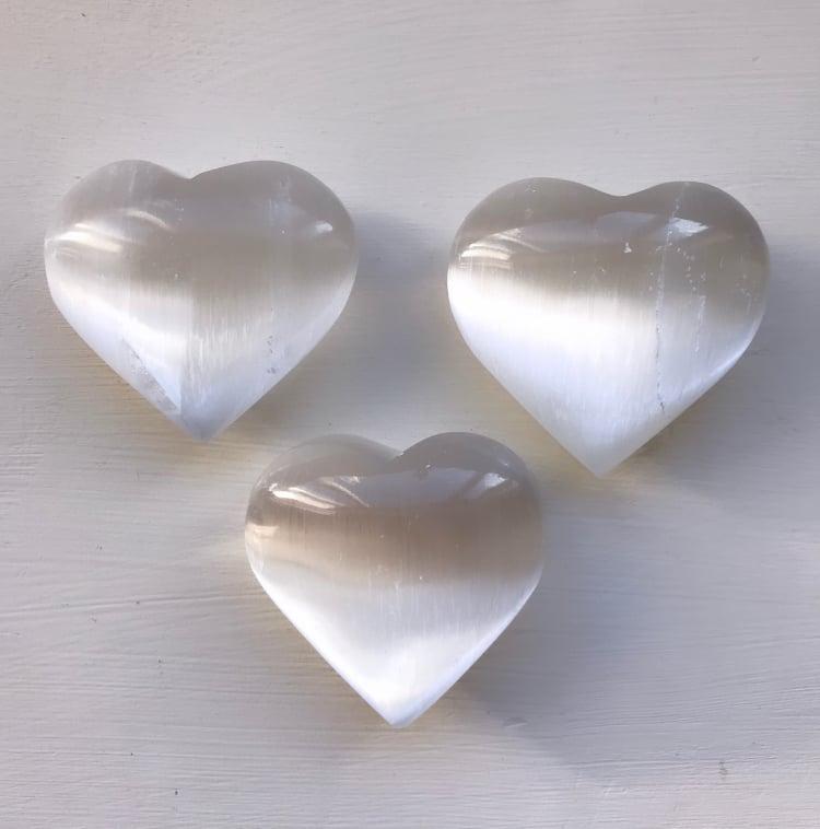 Image of Large Selenite Heart