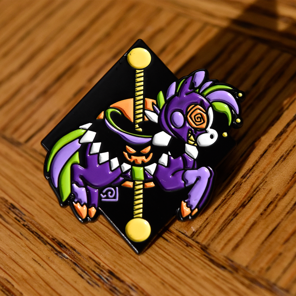 Image of Freaky Carousel Pin