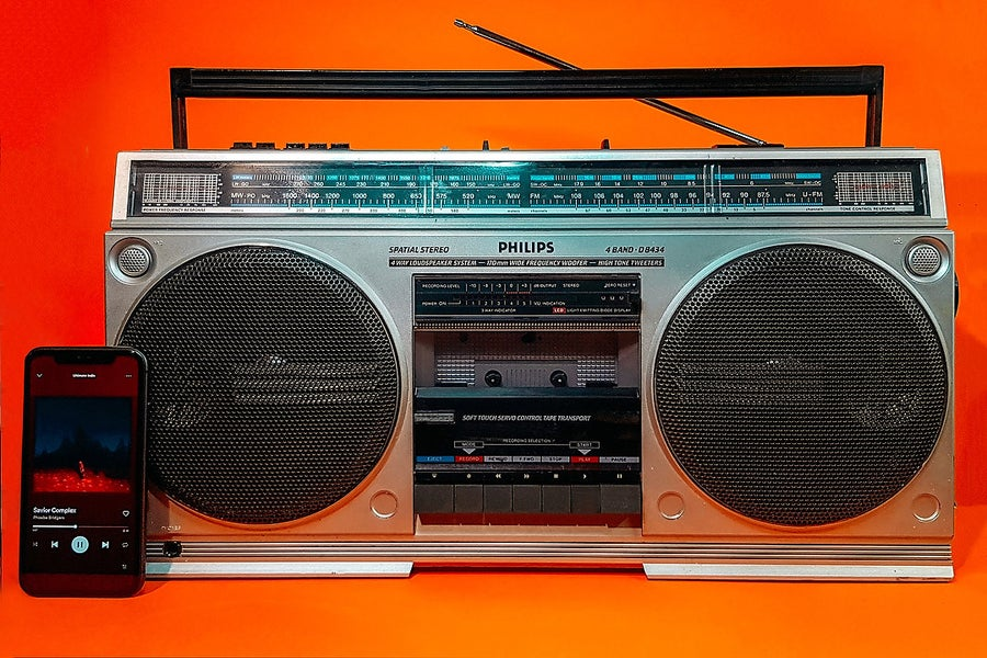 Image of PHILIPS D8434 (1982) BLUETOOTH BOOMBOX