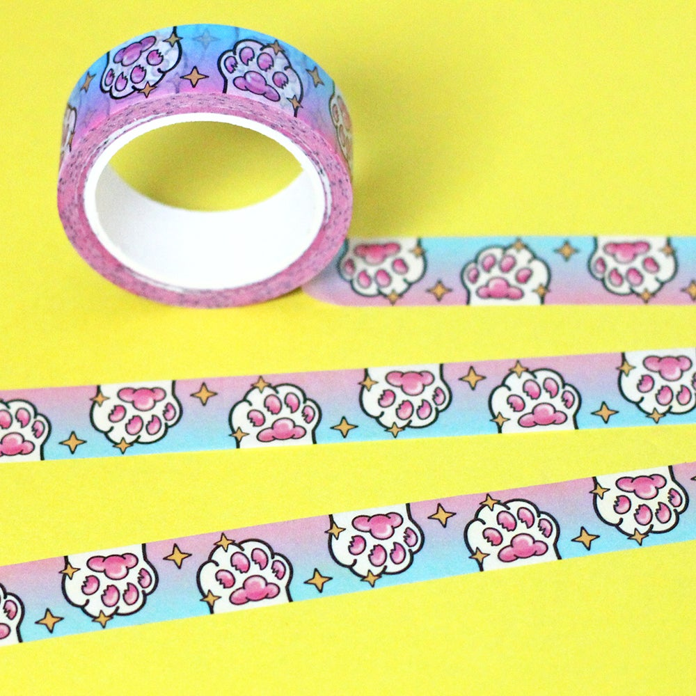 Image of Magic Cat Paw Washi Tape - Toe Beans - 15mm by 10m - Japanese masking tape