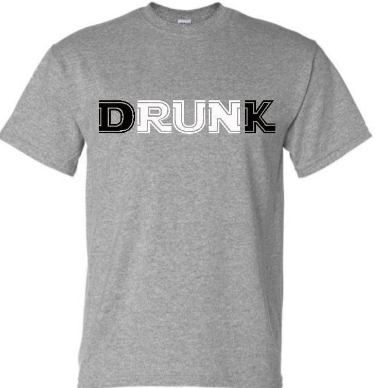 Image of Heathered Grey Drunk T-Shirt #5