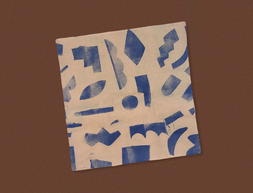Image of BLUE SHAPES PILLOWCASE