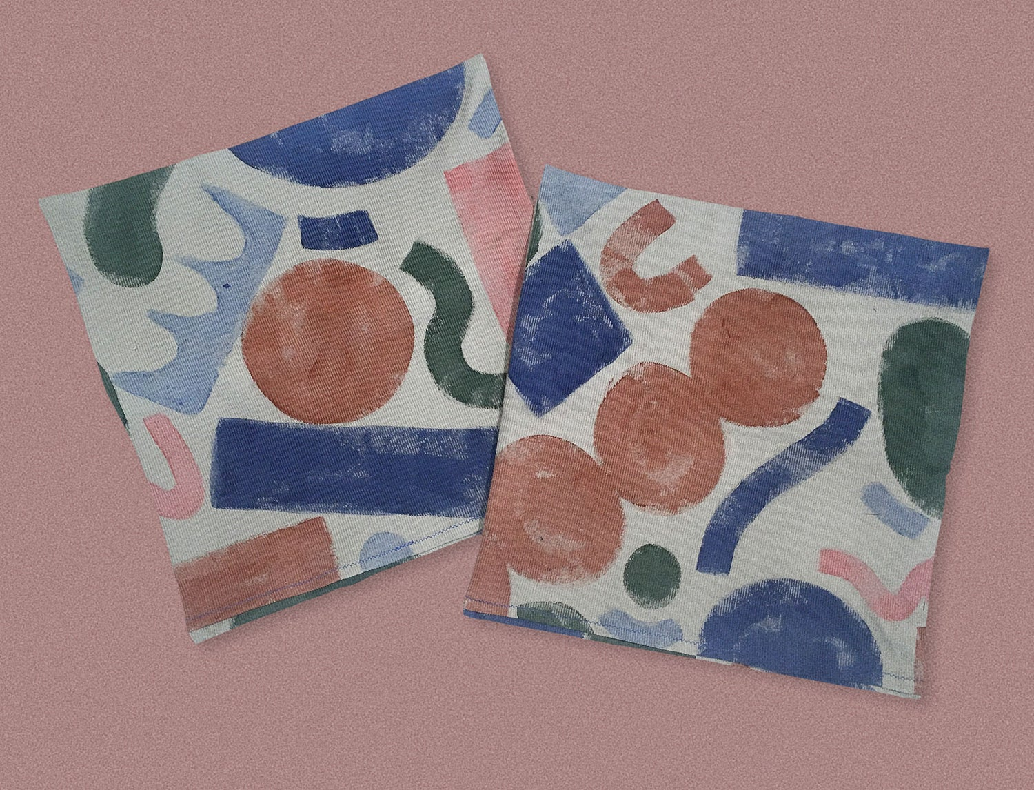 Image of PAINTED SHAPES PILLOWCASE