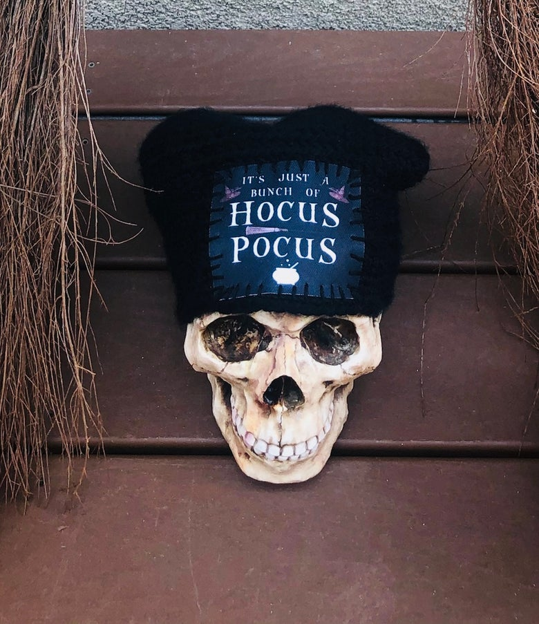 Image of Hocus Pocus Hand-Made Oversized Beanie