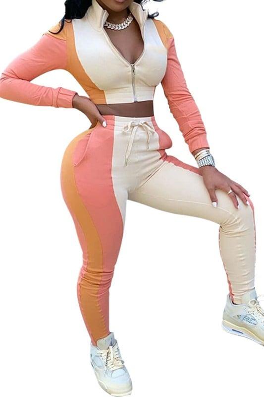 Image of Striped Pants Set