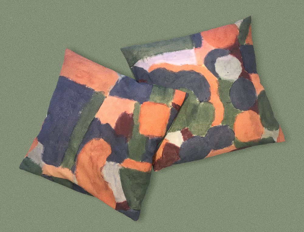 Image of COLOR PAINTING PILLOWCASE
