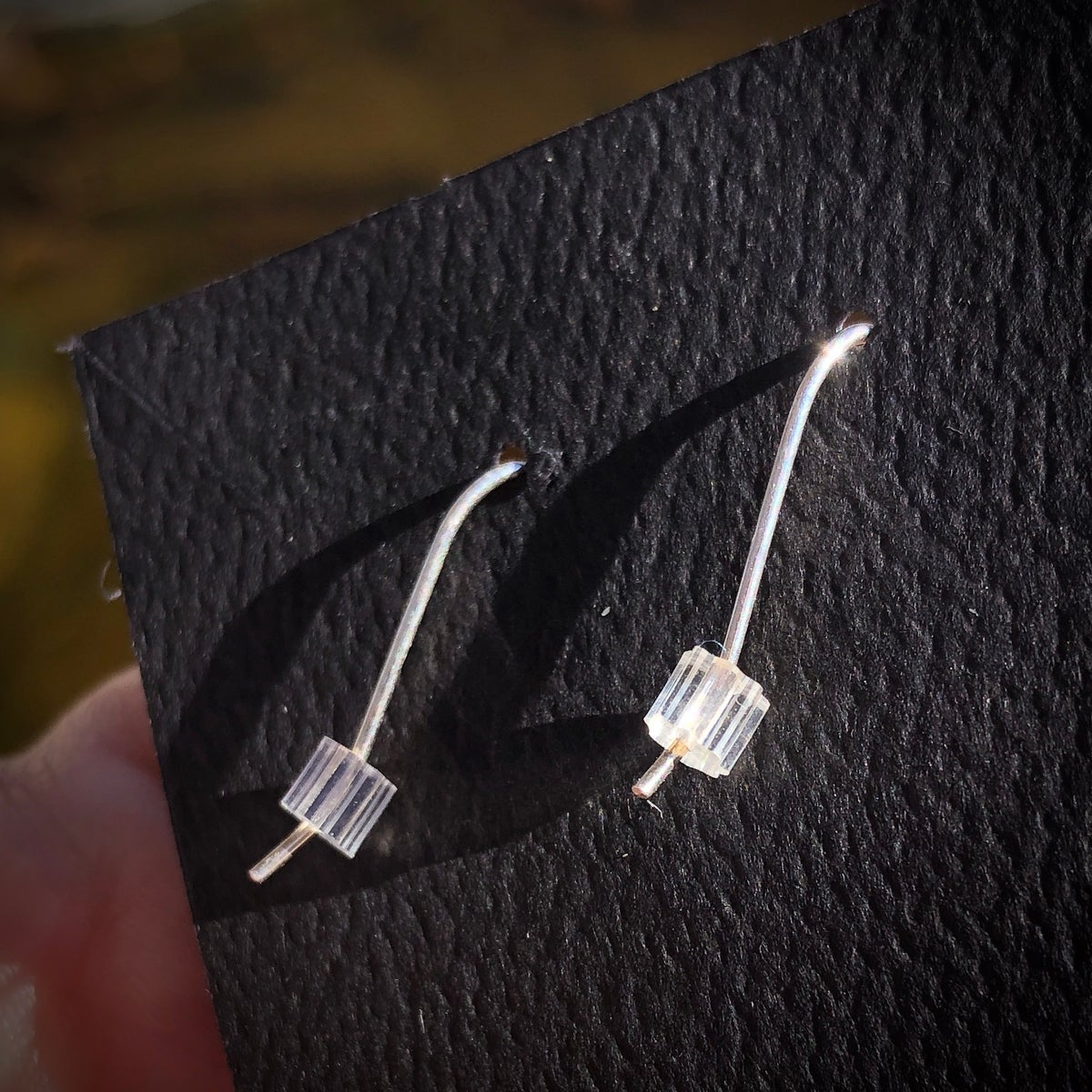 Image of Carver Gem Earrings