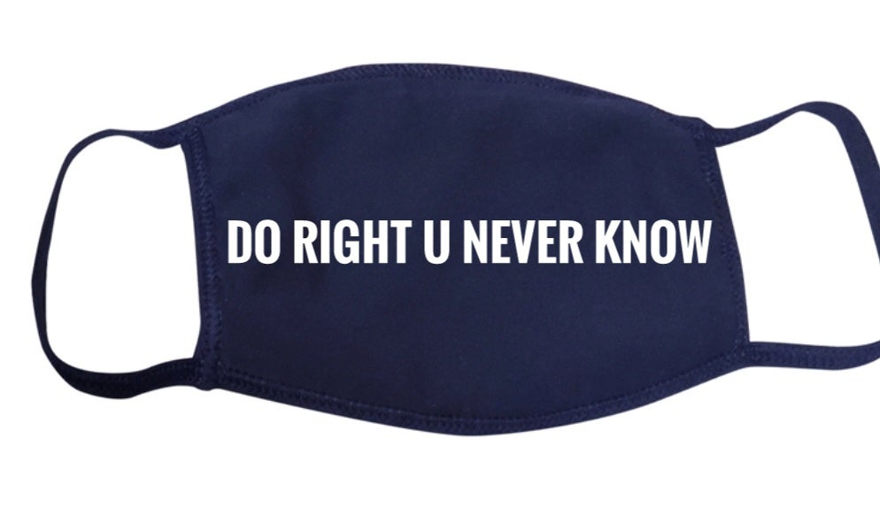 """Image of Face """"MASK"""" Covering - Navy Blue"""