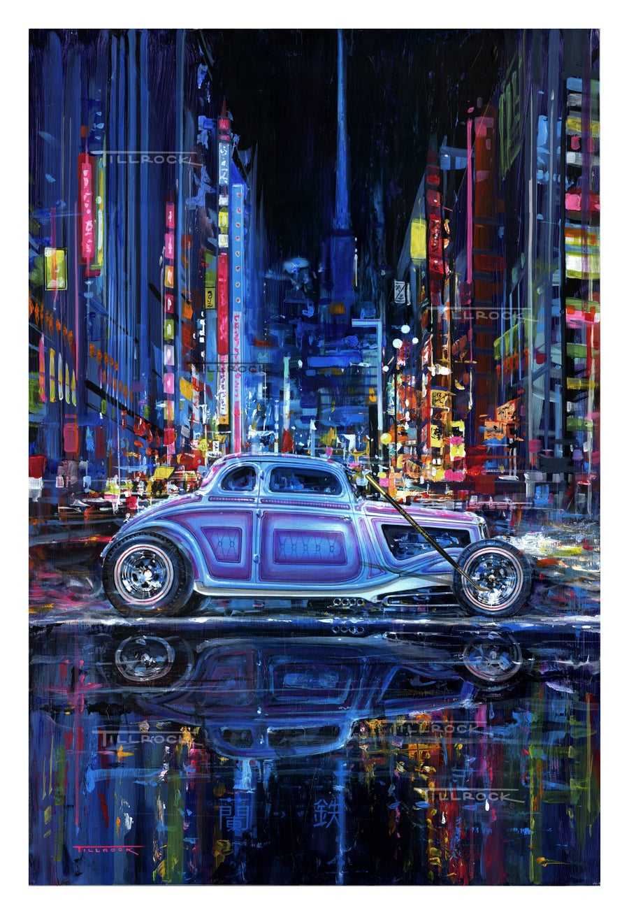 "Image of ""The Iron Orchid in Tokyo"" (19""x27"") or (24""x36"") Signed & Numbered Giclee' Prints"