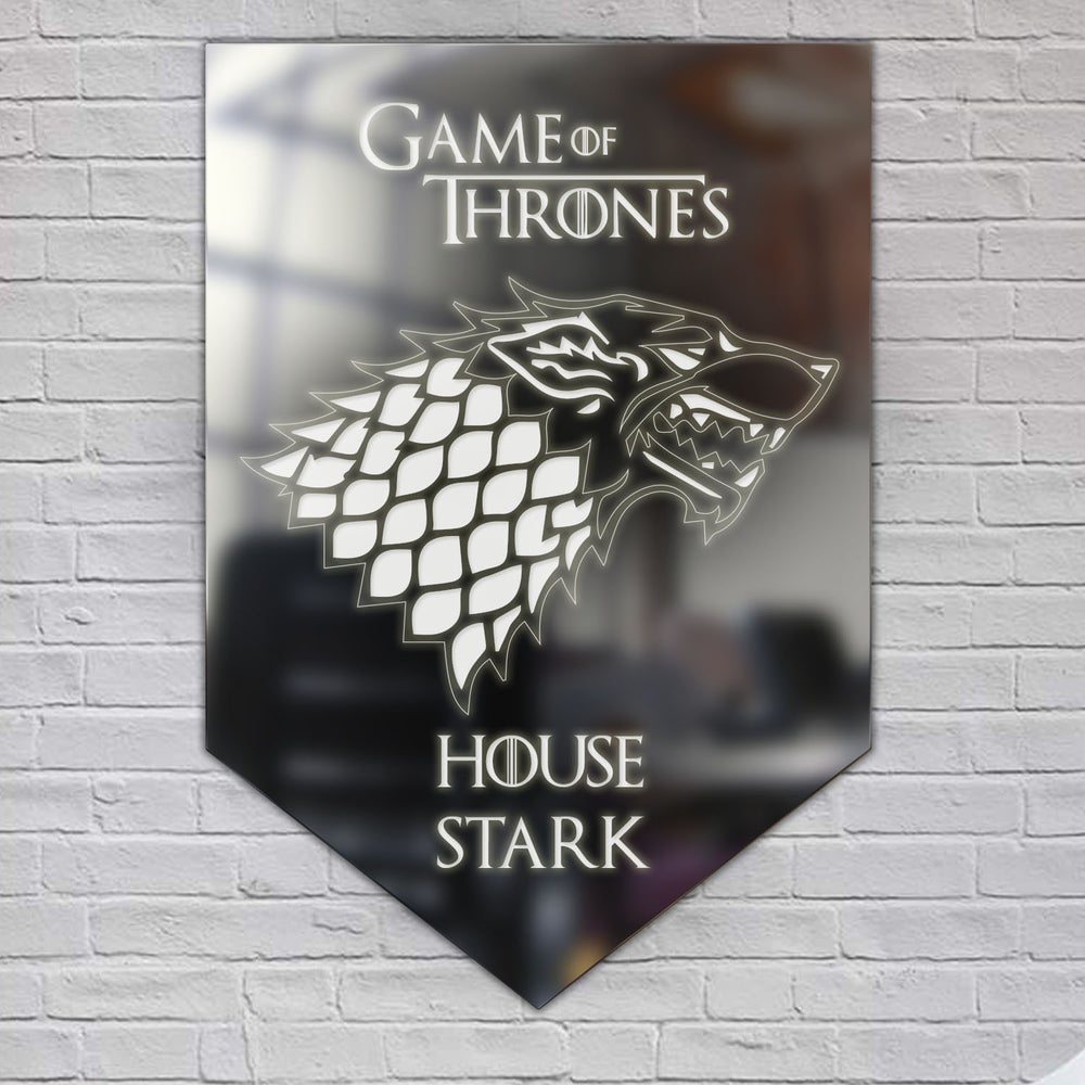 Image of Game of Thrones Acrylic Mirror Wall Art  'House Stark'