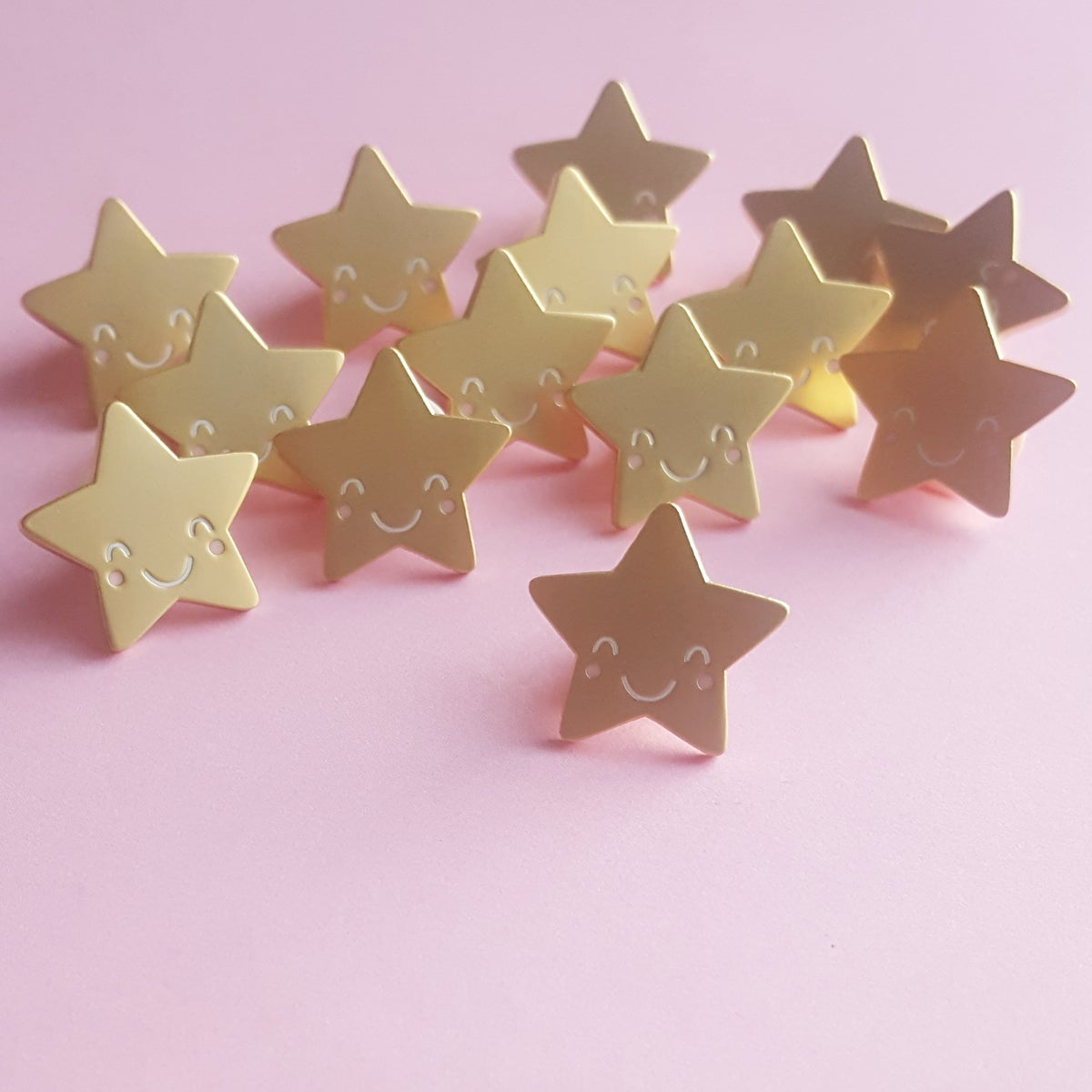 Multipurpose Gold Star Enamel Pin