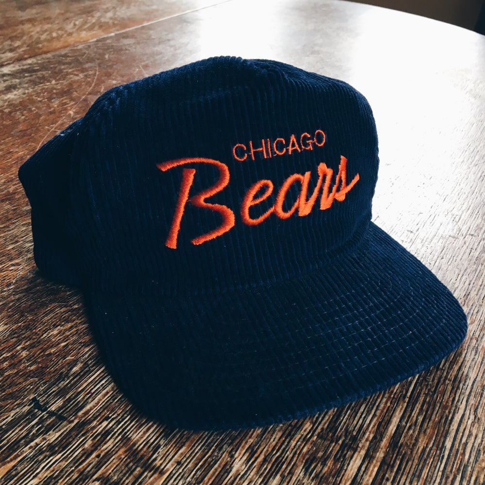 Image of Original 90's Sports Specialties Chicago Bears Corduroy Hat