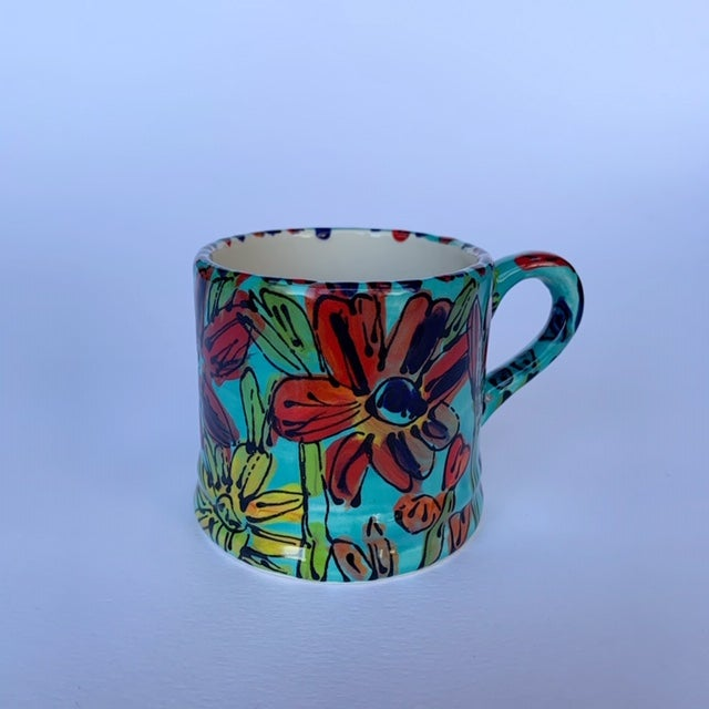 Image of Flowers from My Garden on Juniper Expresso Cup - ES8