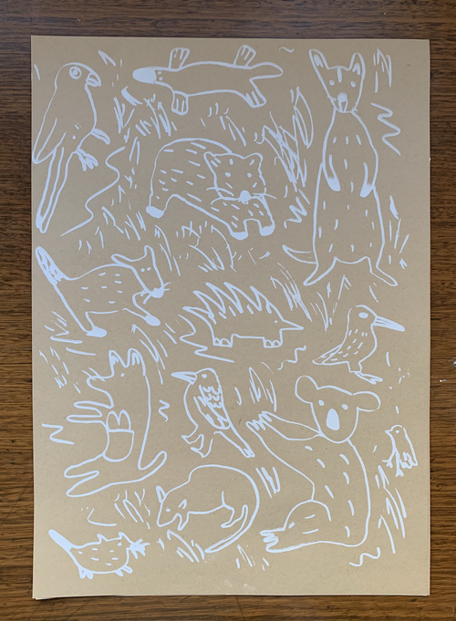 Image of Screen Printed Wrapping!