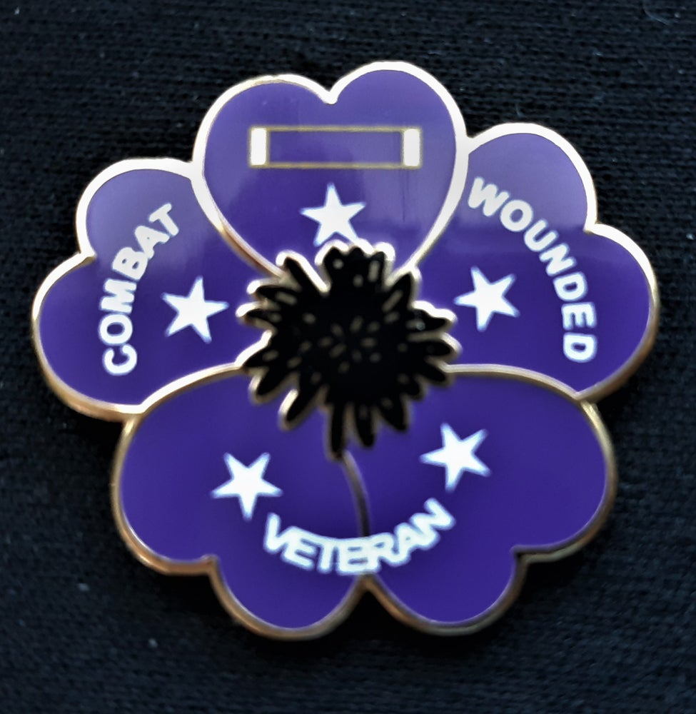 Image of Purple Heart Poppy Pin
