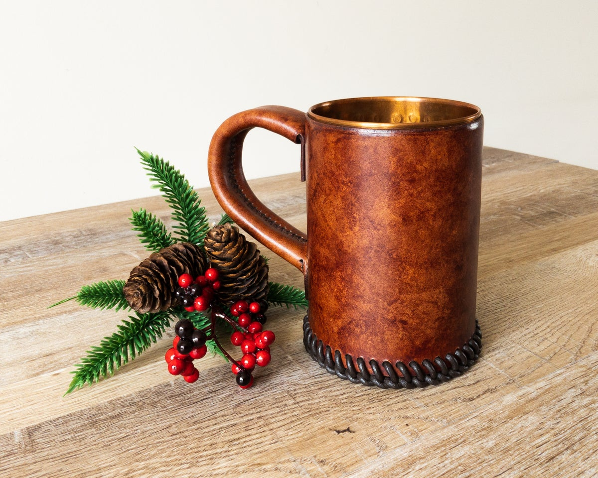Image of Classic Aged Leather Tankard