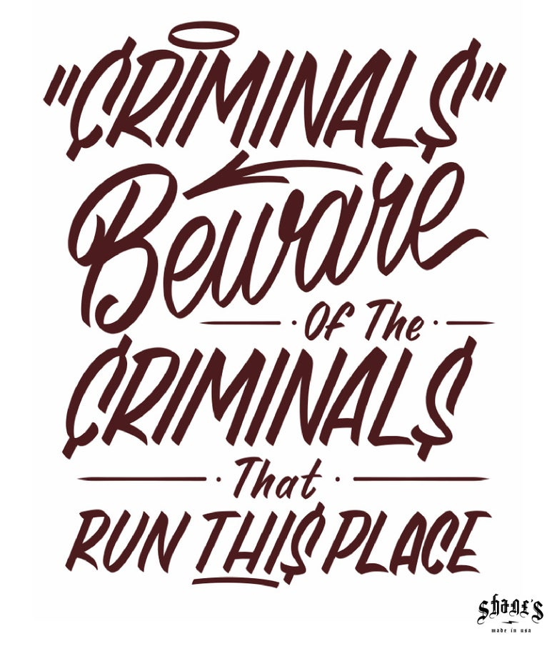 "Image of Limited Edition ""Criminals"" Print (11"" x 14"")"