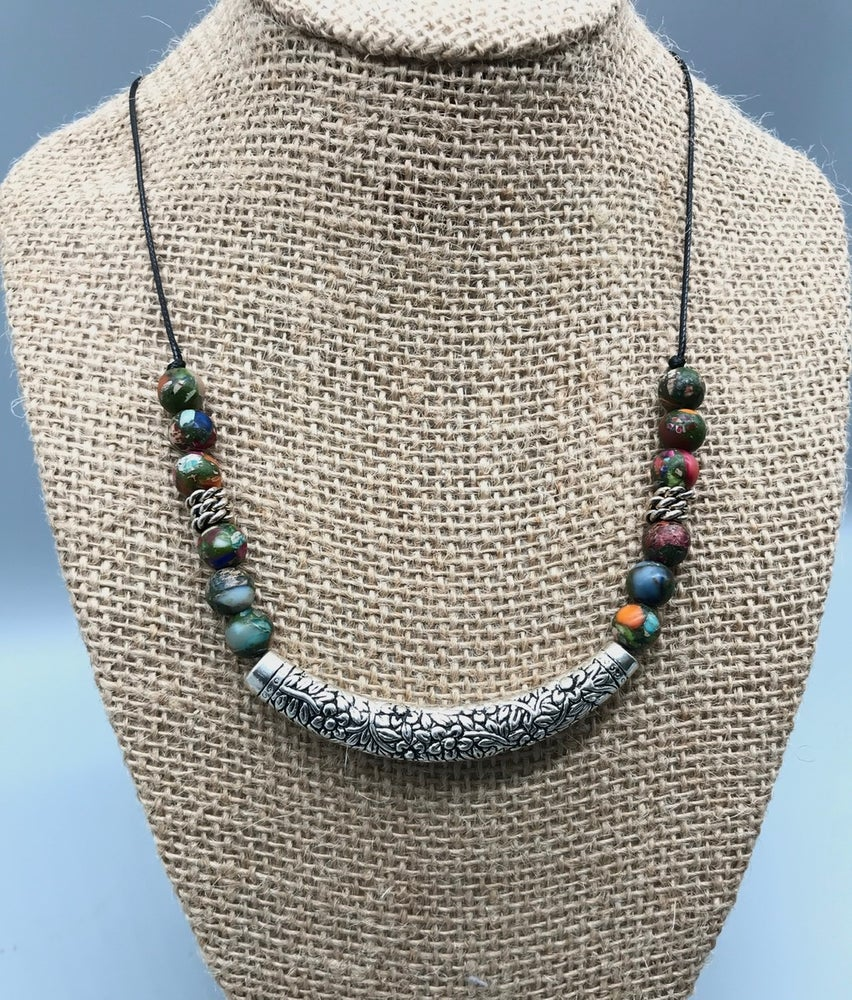 Image of Rainbow Flowers  Necklace