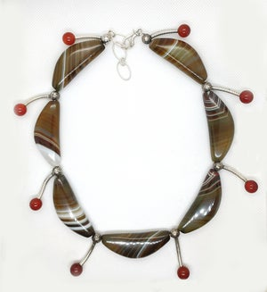 Image of Agate & Carnelian Necklace-- Wild Woman Collection