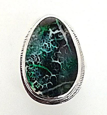Image of Blue-Green Boulder Opal Ring