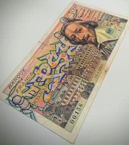 Billet de 10 nouveaux francs  - PSY la boutik