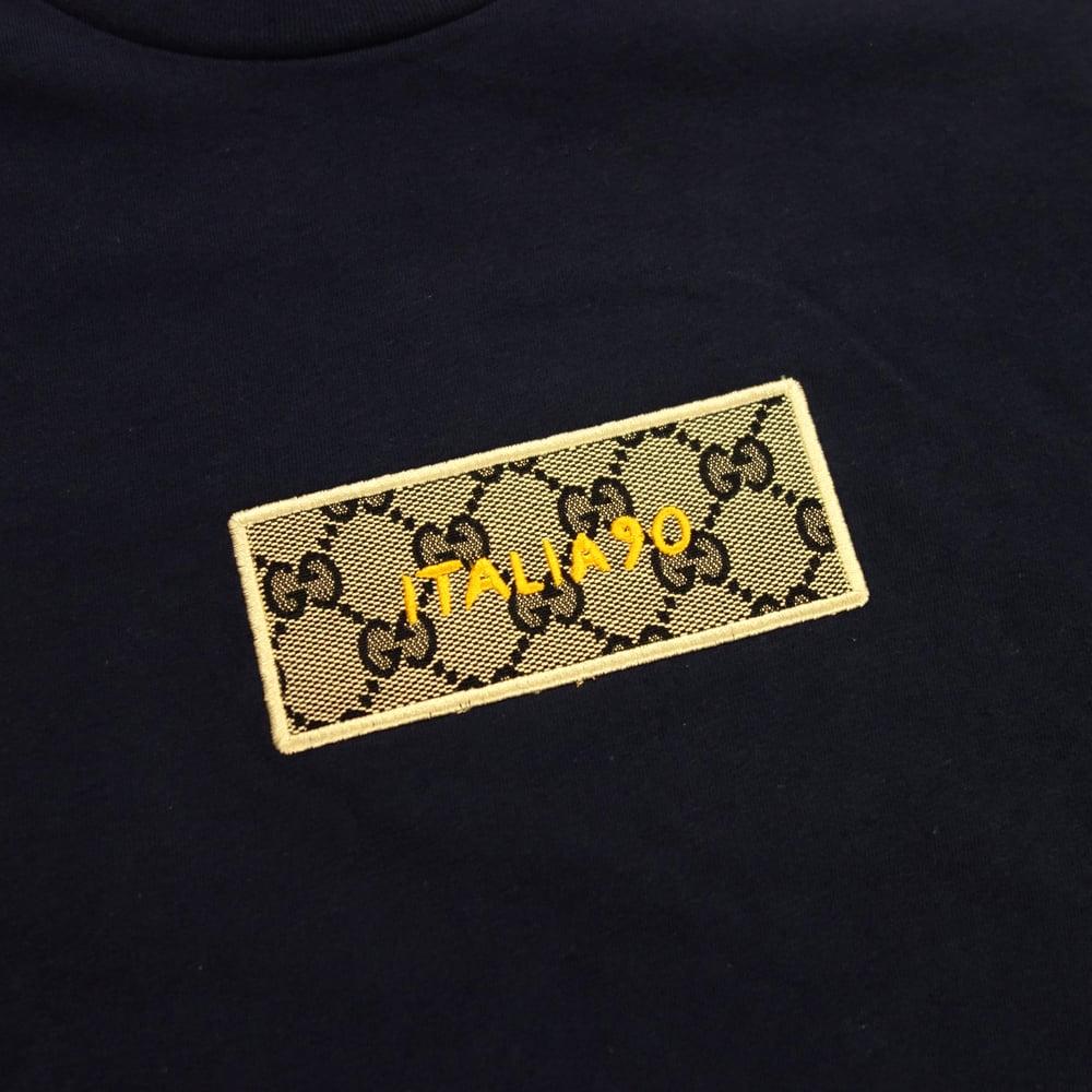 Image of Box Logo Custom T-Shirt (GG Blu Navy)