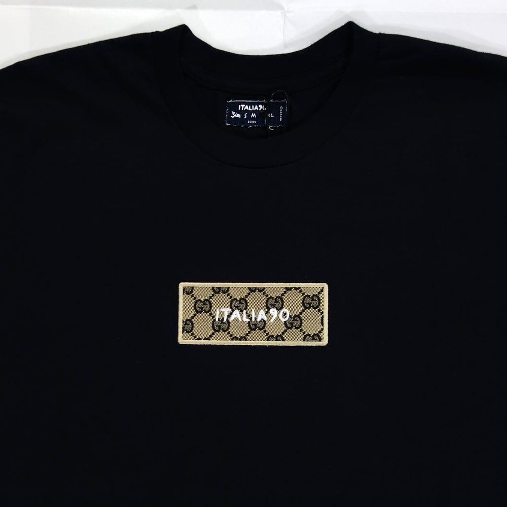 Image of Box Logo Custom T-Shirt (GG Black)