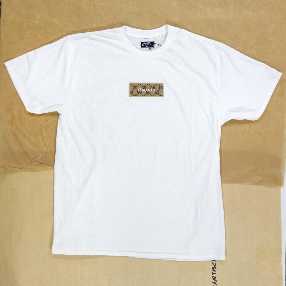 Image of Box Logo Custom T-Shirt White (Classic GG)