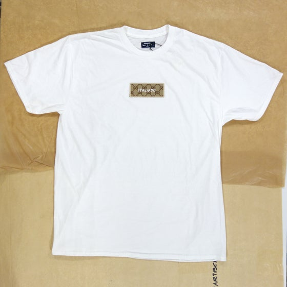 Image of Box Logo Custom T-Shirt White (Classic GG)