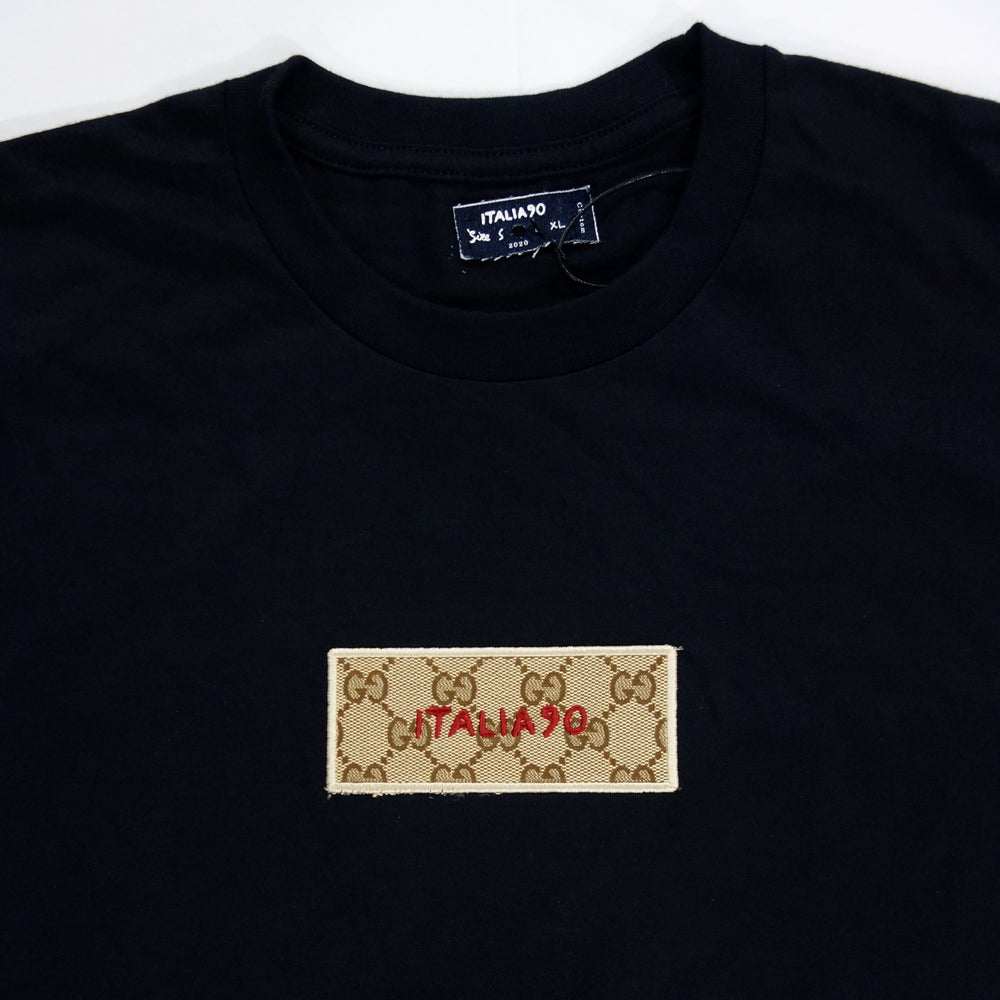 Image of Box Logo Custom T-Shirt Black (Classic GG)