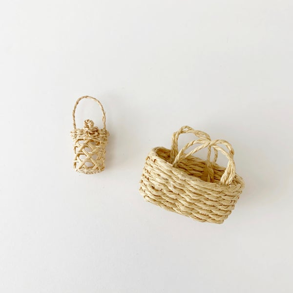Image of Mini Moses Basket and Woven Purse