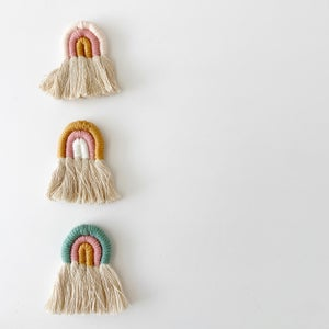 Image of Woven Rainbow Wall Hanging