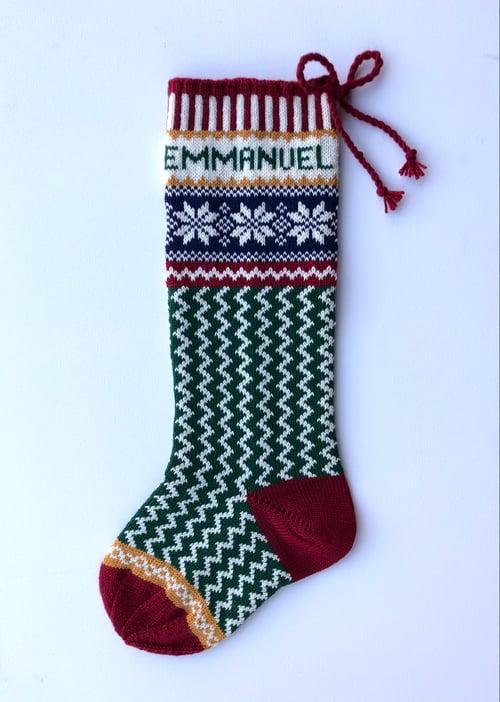 Image of Nordic Star Christmas Stocking