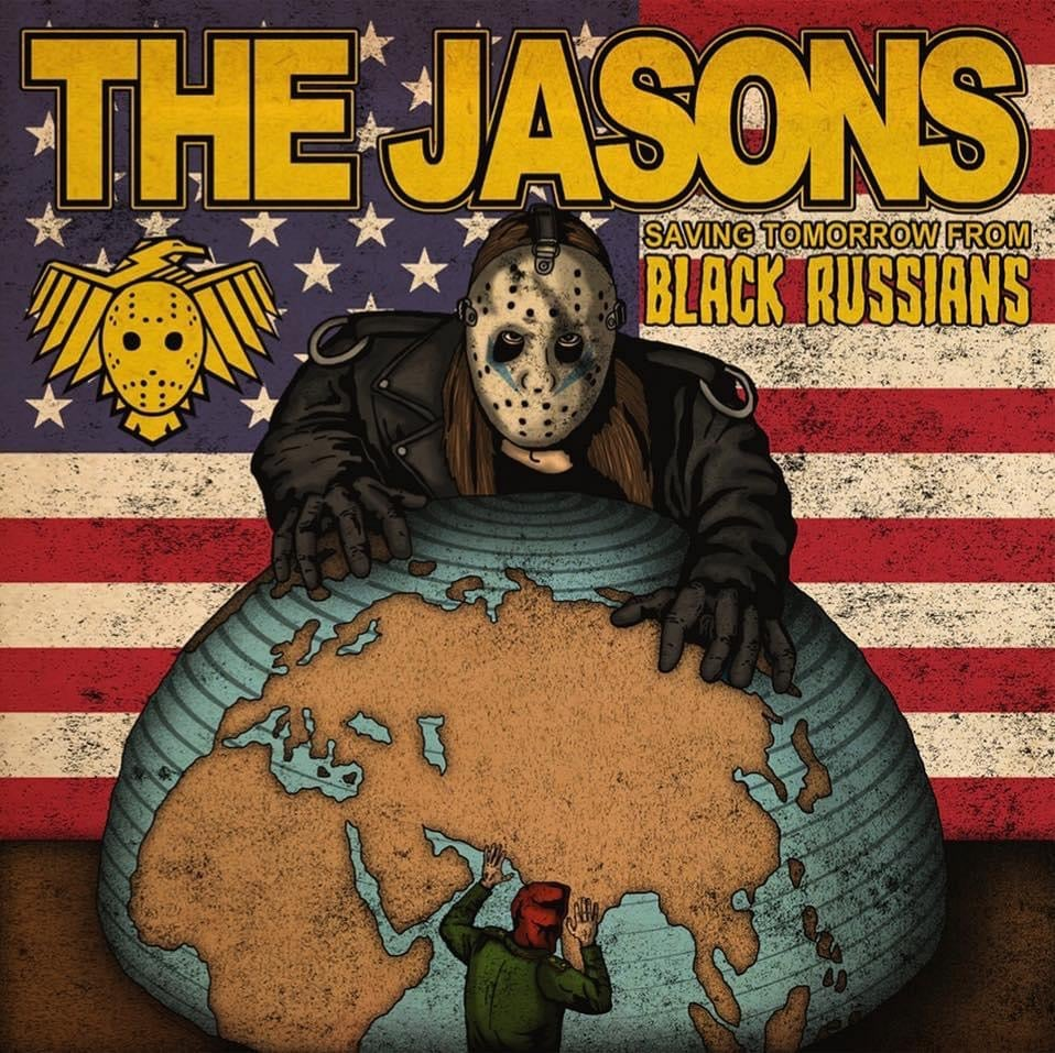 "Image of The Jasons/Black Russians Split 7"" ep"