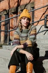 Omemee Cable Toque (shown Alpaca wool in Ochre)