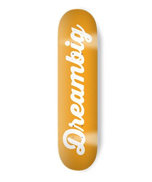 Image of CURSIVE LOGO TEAM DECK - YELLOW