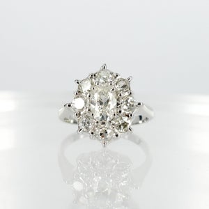 Image of Oval European old cut diamond dress ring.Sp5