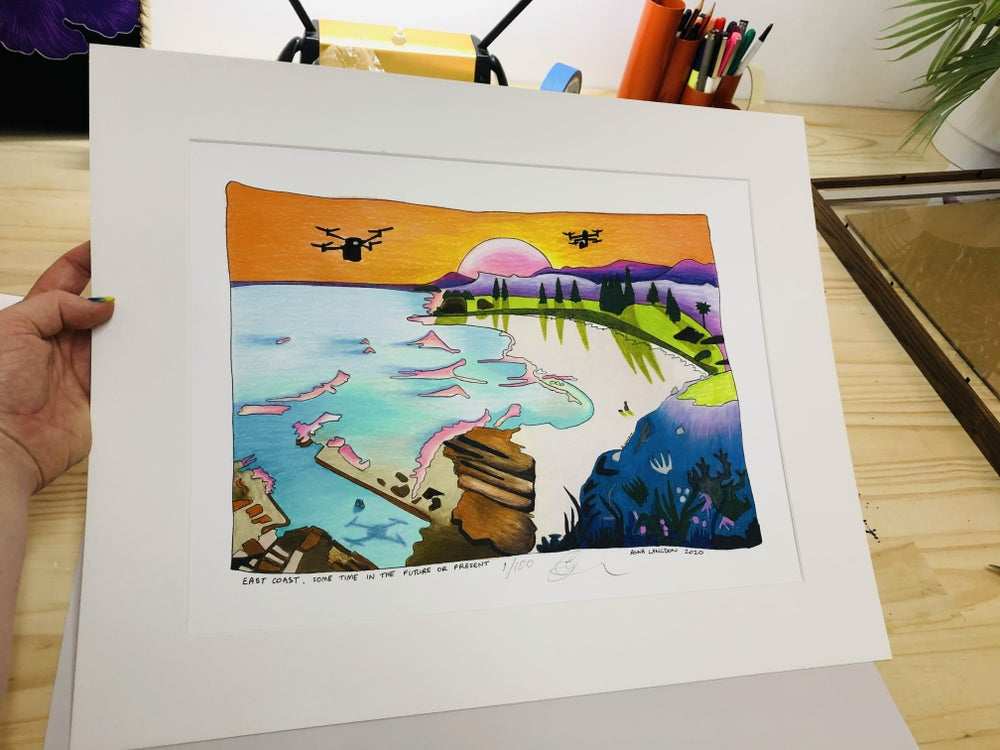 East Coast Future A3 Limited Edition (100) Giclée Print