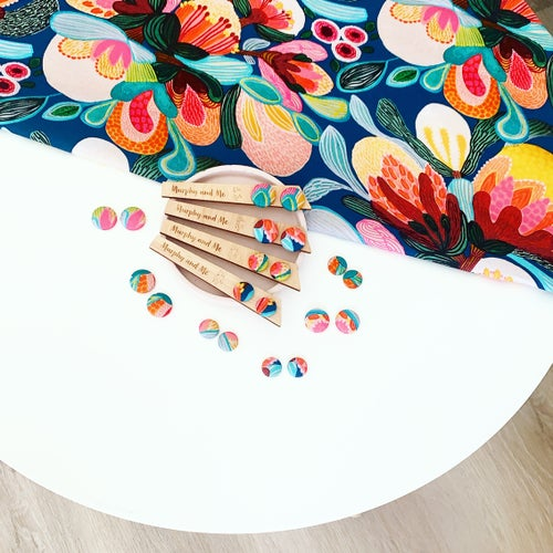 Image of 'A Painters Palette' Abstract Studs