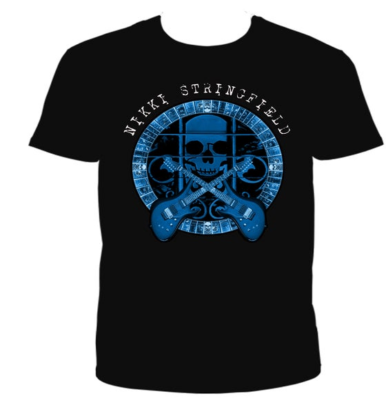 Image of Nikki Stringfield Blue Skull Shirt
