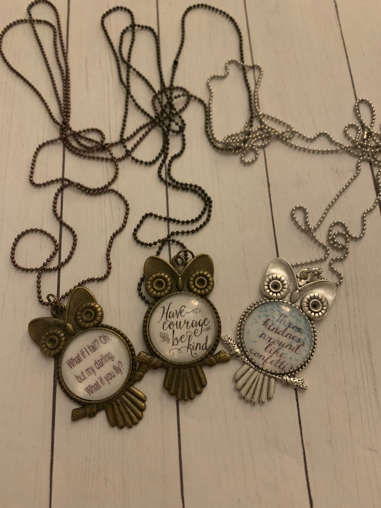 Image of The Kindness Crew - Owl Necklace Collection