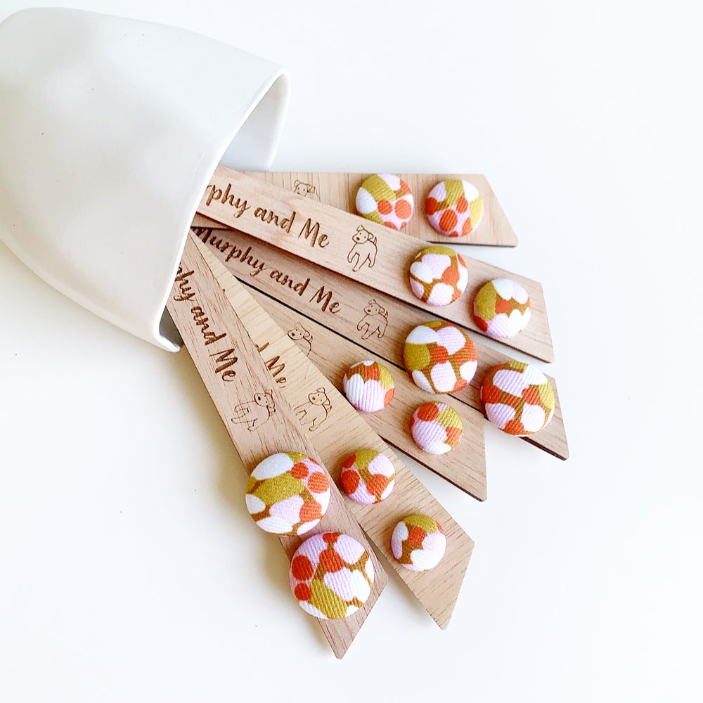 Image of Autumn Speckled Fabric Studs