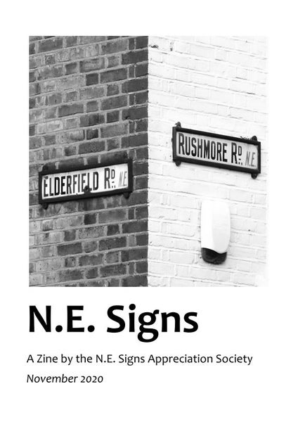 Image of N.E. Signs Zine
