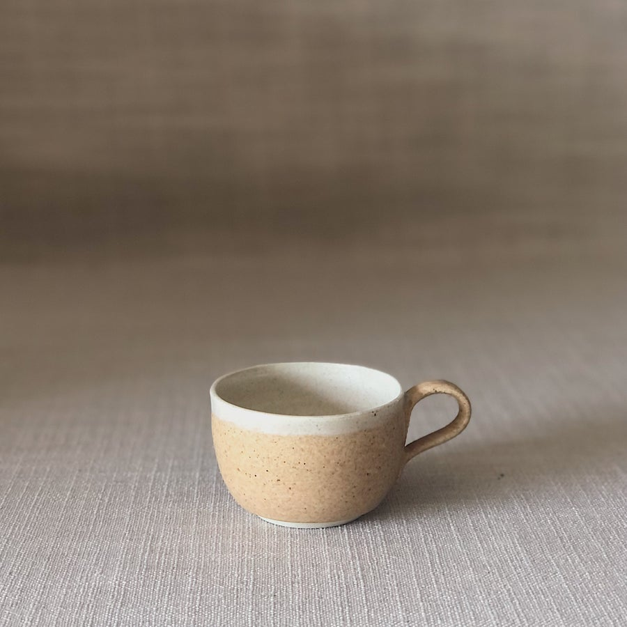 Image of EARTHY ORANGE CURVED ESPRESSO CUP