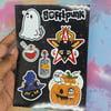Spooky A6 Sticker Sheet
