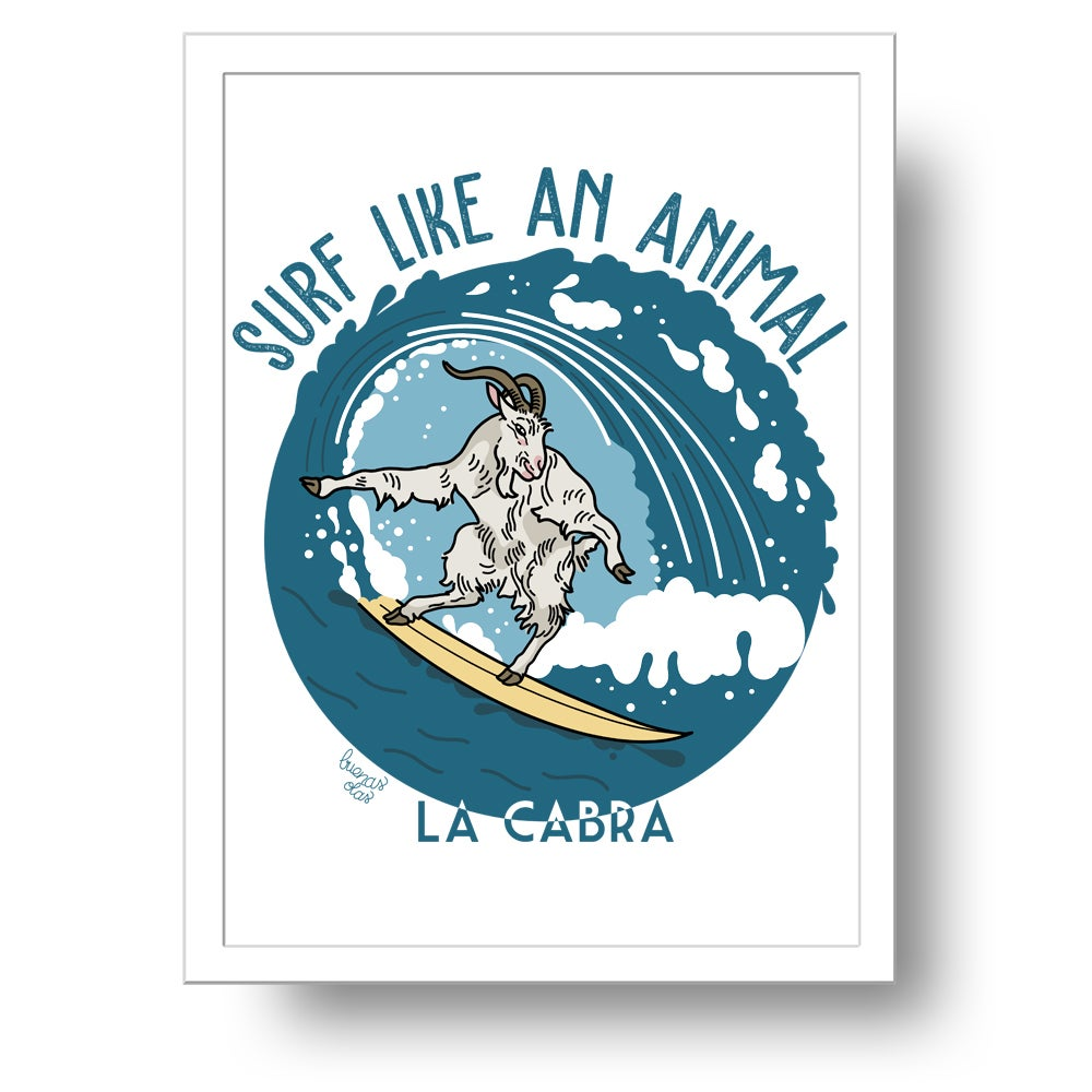 Image of Surf like an animal la cabra print