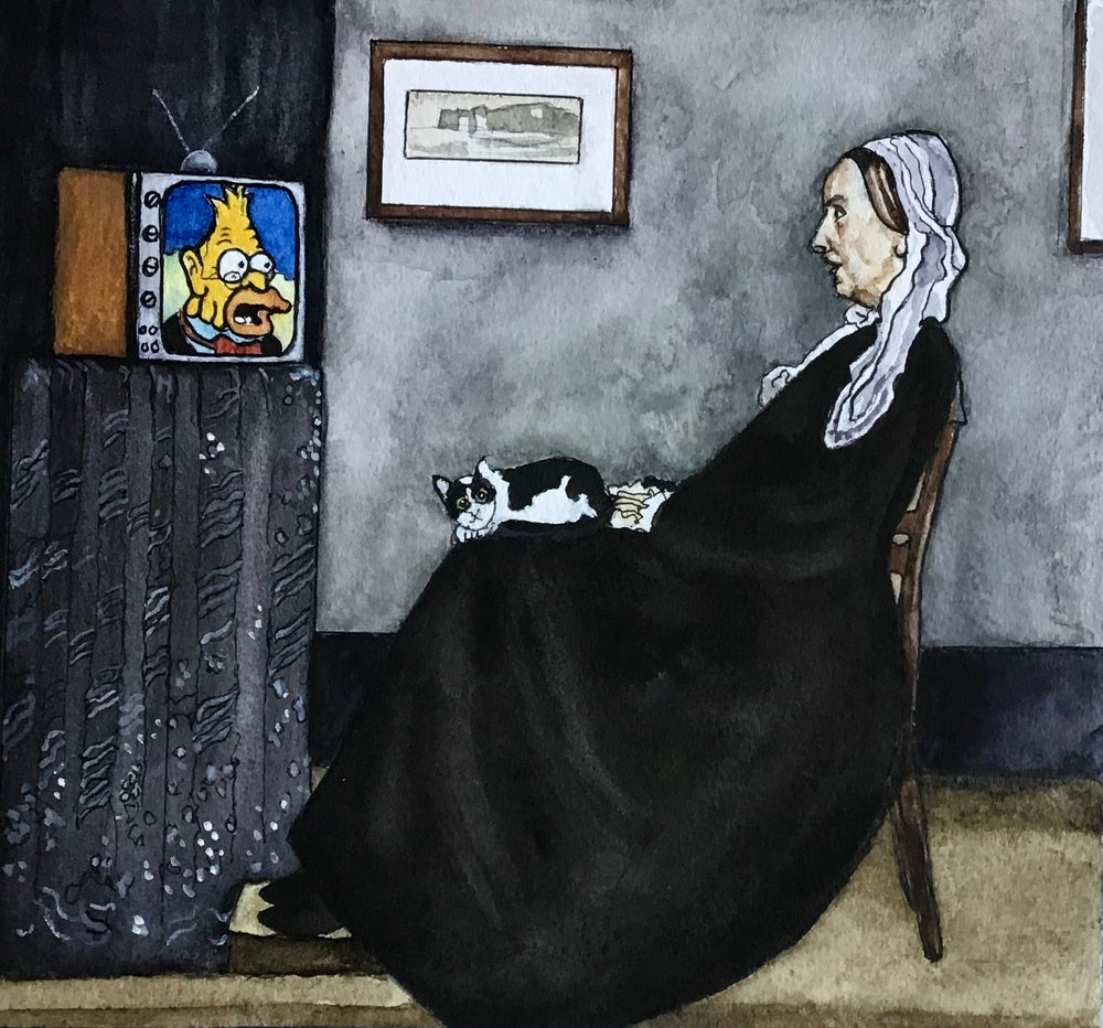 Image of 'Whistler's Mother's Secret Simpsons Addiction'