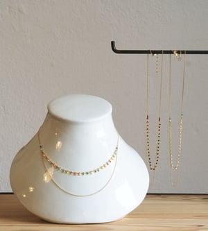 Image of Clandestine - Collier India Double  - Noir/Blanc/Multi