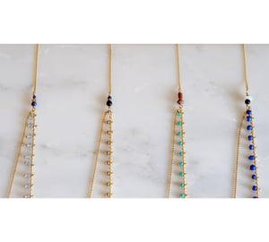 Image of Clandestine - Collier India Double - Bleus
